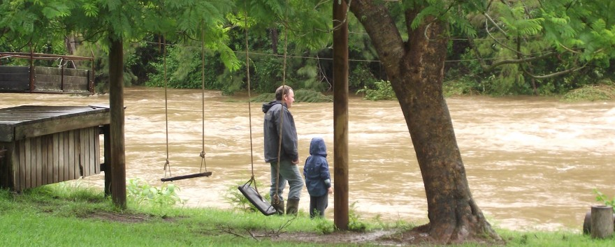 Watching the NSW flood February 2013